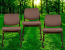 Brown Cushioned Chairs